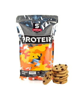 Протеин Dynamic Whey Protein 1000g (Cookies) SportLine Nutrition
