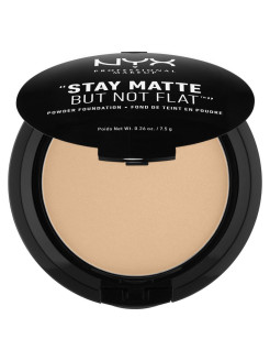 Тональная основа-пудра. STAY MATTE BUT NOT FLAT POWDER FOUNDATION - MEDIUM BEIGE 06 NYX PROFESSIONAL MAKEUP