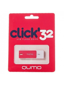 Флэш-диск 32Gb Click Crimson QUMO