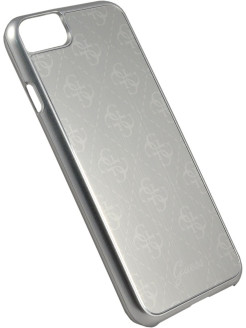 Чехол Guess для iPhone 7/8 4G Aluminium plate Hard Silver GUESS
