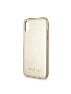 Чехол Guess для IPhone X Iridescent Hard PU Gold GUESS