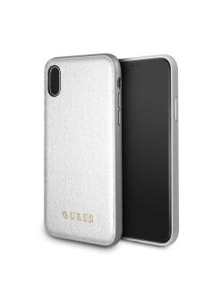 Чехол Guess для IPhone X Iridescent Hard PU Silver GUESS