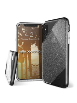 Чехол X-Doria Revel Lux - кейс для iPhone X Black Glitter x-doria