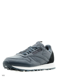 Кроссовки CL LEATHER IT SMOKY INDIGO/BLACK/W Reebok