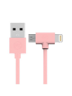 Usb Apple iPhone 5 / micro USB WK Axe Pink 1m REMAX