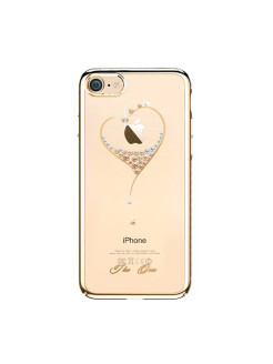 Чехол с Swarovski Kingxbar Starry Sky Gold для iPhone 8/7 Heart Kingxbar