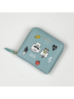 Кошелек Ghostpop zipper wallet S Sky GMZ
