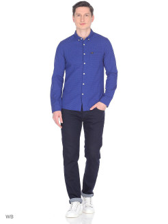 Рубашка SLIM BUTTON DOWN INDIGO FLASH LEE