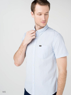 Рубашка LEE BUTTON DOWN SS LIGHT BLUE LEE