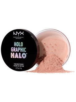Рассыпчатая финишная пудра. HOLOGRAPHIC HALO FINISHING POWDER -MAGICAL 02 NYX PROFESSIONAL MAKEUP