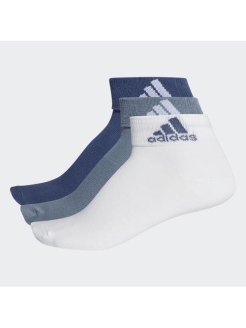 Носки PER ANKLE T 3PP NOBLE INDIGO S18,white,RAW STEEL S18 adidas