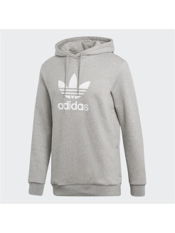Толстовка TREFOIL HOODIE medium grey heather Adidas