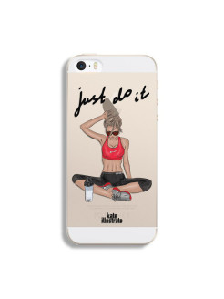"Чехол ""Kateillustrate"" (Sport girl) для iPhone 5/5S Ipapai"