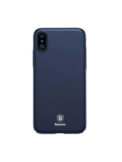 Чехол-накладка Apple iPhone X Baseus Thin Blue BASEUS
