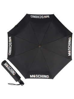 Зонт складной Moschino 8026-OCA Betty Bimbo Logo Black MOSCHINO
