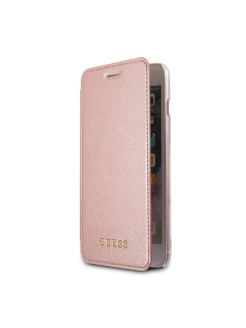 Guess для iPhone 7+/8+ Iridescent Booktype PU Rose gold GUESS
