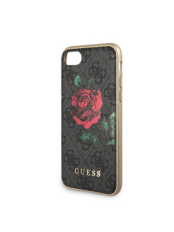 Guess для iPhone 7/8 Flower desire 4G Hard PU/roses Grey GUESS