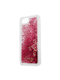 Guess для iPhone 7/8 Glitter Hard PC Raspberry GUESS