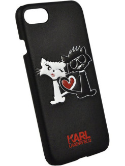 Lagerfeld для iPhone 7/8 Choupette in love Hard PU Black Karl Lagerfeld