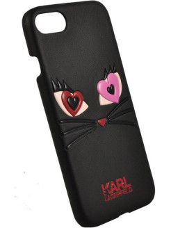 Lagerfeld для iPhone 7/8 Choupette in love 2 Hard PU Black Karl Lagerfeld