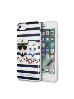 Lagerfeld для iPhone 7/8 TPU collection Sailors Hard Stripes Blue/White Karl Lagerfeld