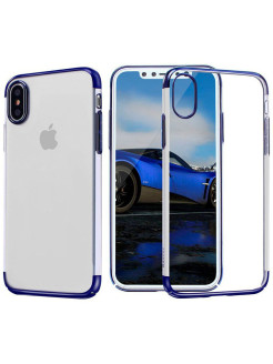 Чехол-накладка Apple iPhone X Baseus Glitter Blue BASEUS