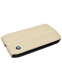 Чехол BMW для Samsung Galaxy S4 Signature Flip Cream BMW