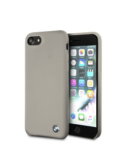 Чехол BMW для iPhone 7/8 Signature Liquid silicone Hard Taupe BMW