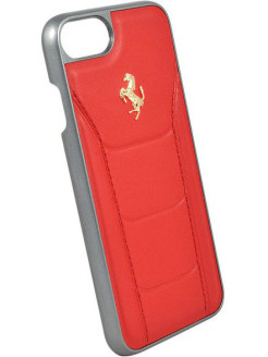 Ferrari для iPhone 7/8 488 (Gold) Hard Leather Red FERRARI