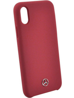 Mercedes для iPhone X Silicone line Hard Red MERCEDES-BENZ
