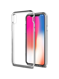 Чехол VRS Design New Crystal Bumper для iPhone X Silver VRS Design