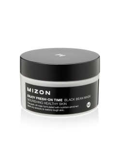 Восстанавливающая, антивозрастная маска для лица, ENJOY FRESH-ON TIME BLACK BEAN MASK, 100гр Mizon