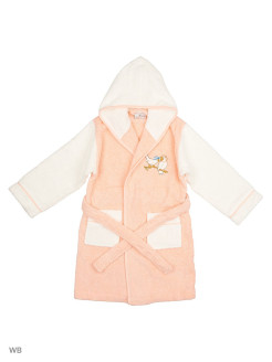 Children's Bathrobe for Girls Singing Bird Ecocotton