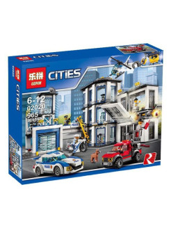 "Конструктор Lepin 02020 ""Полицейский участок"",  серия Лепин Сити ""lepin cities""  965 дет LEPIN"