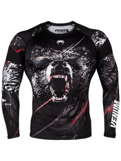 Рашгард Grizzli Black/White L/S Venum