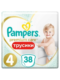 Трусики Pampers Premium Care 9-15 кг, Размер 4, 38 шт. Pampers