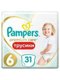 Трусики Pampers Premium Care 15+ кг, размер 6, 31 шт. Pampers