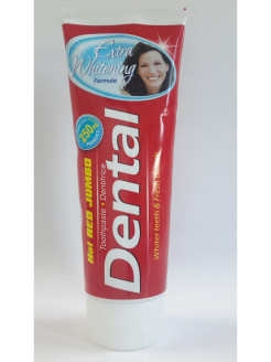 Зубная паста Dental Hot Red Jumbo Extra Whitening Экстра отбеливание 250мл Rubella Beauty