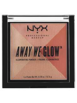 Многофункциональный хайлайтер. AWAY WE GLOW ILLUMINATING POWDER - SUMMER REFLECTION 01 NYX PROFESSIONAL MAKEUP
