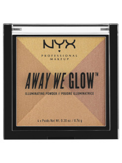 Многофункциональный хайлайтер. AWAY WE GLOW ILLUMINATING POWDER - CANDLELIT 03 NYX PROFESSIONAL MAKEUP