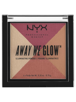 Многофункциональный хайлайтер. AWAY WE GLOW ILLUMINATING POWDER - SUNSET BLVD 04 NYX PROFESSIONAL MAKEUP
