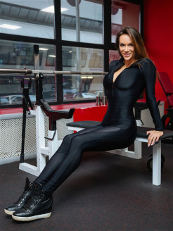 "Комбинезон Oy - Vsyo Gym Suit ""Black"" Bona Fide"