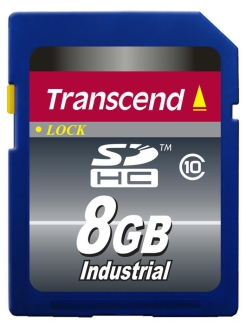 Карта памяти Secure Digital 08 Gb Class 10 [SDHC] Transcend