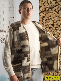 Vest, breathable material, ultra light model, with warming Холти