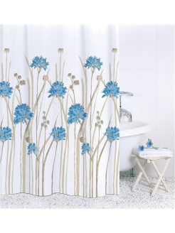 Штора д/в 180х180 Flowers Blue ch16007/0 Bath Plus
