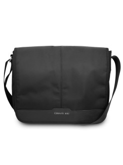 "Сумка для ноутбуков 15"" Messenger Bag Nylon/Leather Blk CERRUTI 1881"