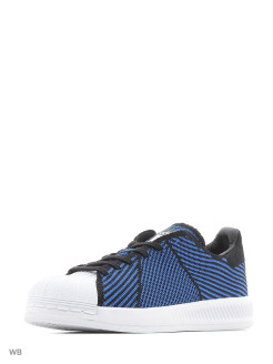Кроссовки SUPERSTAR BOUNCE PK CBLACK/BLUE/FTWWHT Adidas