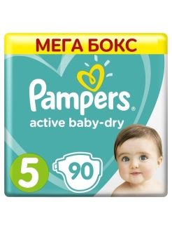 Подгузники Pampers Active Baby Dry 11-16 кг, размер 5, 90 шт Pampers