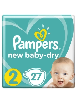 Подгузники Pampers New Baby Dry 4-8 кг, размер 2, 27 шт Pampers