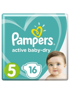 Подгузники Pampers Active Baby Dry 11-16 кг, размер 5, 16 шт Pampers